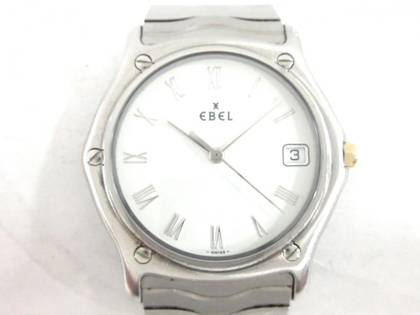 EBEL(エベル) 腕時計美品  クラシックウェーブ 9187141 メンズ 白