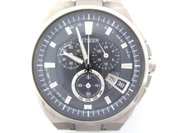 シチズン 腕時計 アテッサ H610-T018050 メンズ クロノグラフ/エコドライブ 黒