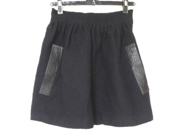 オープニングセレモニー ミニスカート サイズ2 M レディース美品  黒 レザー