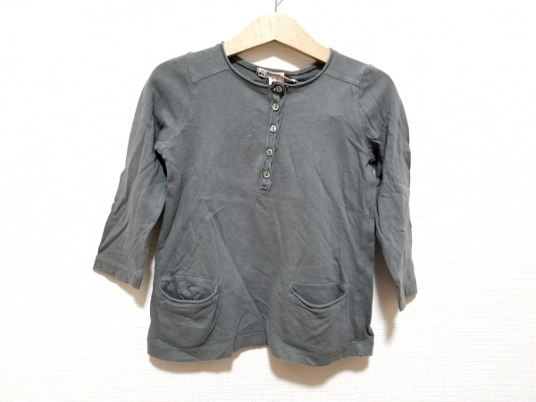 ボンポワン 長袖カットソー サイズ3 L レディース美品  グレー ヘンリーネック/子供服