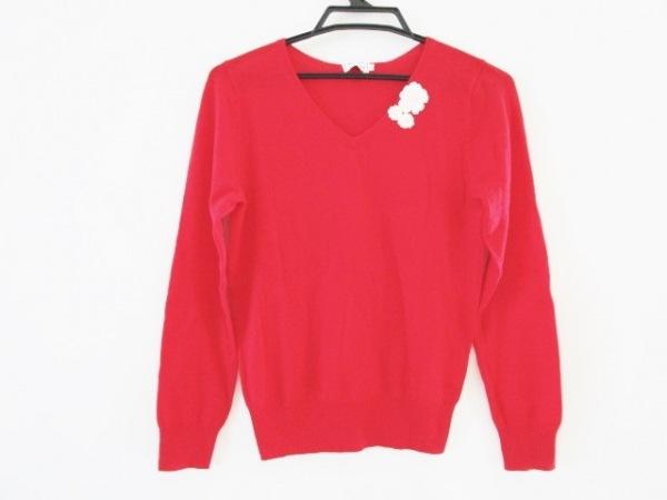 anatelier(アナトリエ) 長袖セーター サイズ38 M レディース レッド フラワー