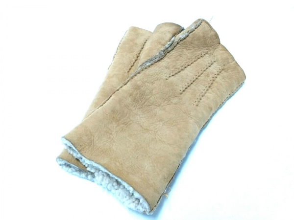 AGNELLE(アニエル) 手袋 レディース ライトブラウン ムートン
