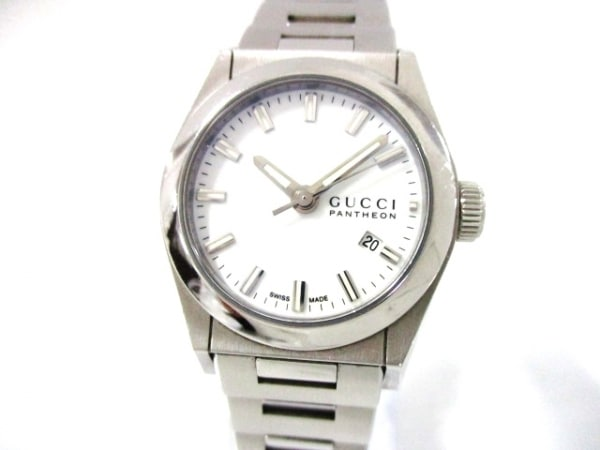 GUCCI(グッチ) 腕時計美品  パンテオン 115.5 レディース 白