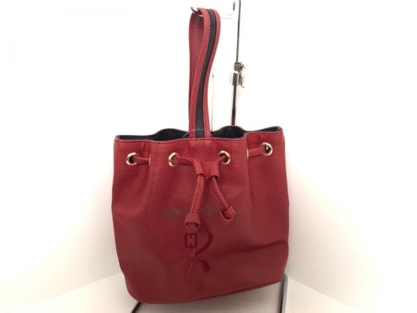 ロベルタ ディ カメリーノ ハンドバッグ美品  レッド×黒 巾着型 PVC(塩化ビニール)