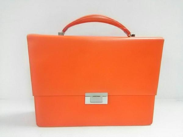 ISABURO 1889(イサブロイチハチハチキュー) ビジネスバッグ美品  オレンジ レザー