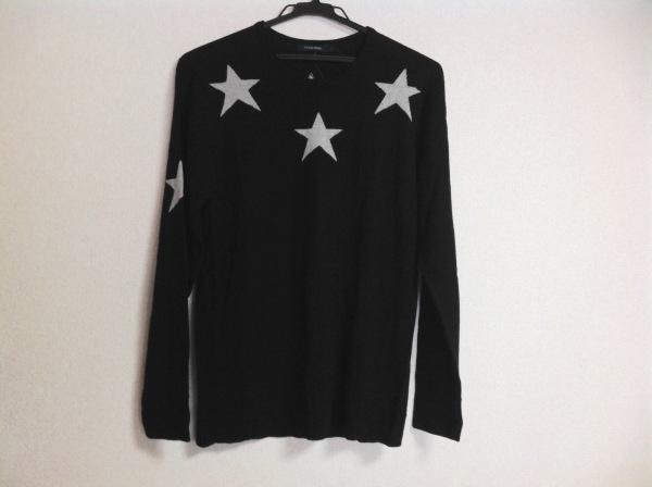 GUILD PRIME(ギルドプライム) 長袖セーター メンズ 黒×白 スター