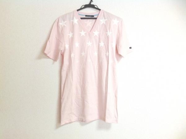 GUILD PRIME(ギルドプライム) 半袖Tシャツ メンズ ピンク×白 スター