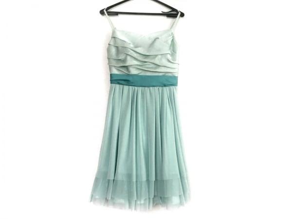 ラデファンス ドレス サイズ9 M レディース ライトグリーン×ライトブルー