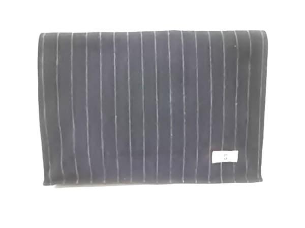 ザダファーオブセントジョージ セカンドバッグ 黒×グレー ストライプ ウール
