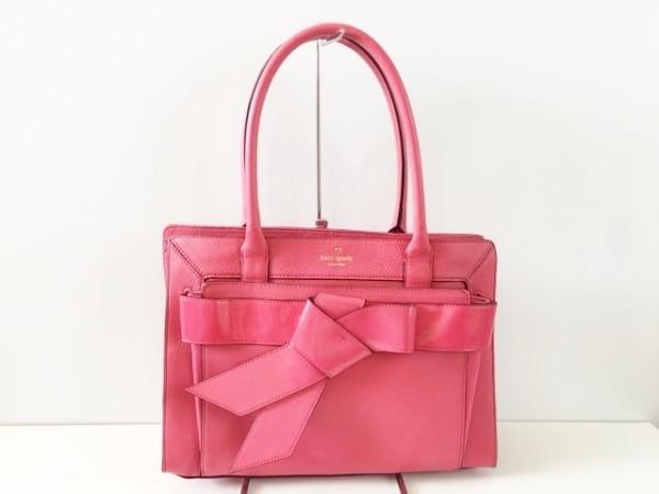 ケイトスペード トートバッグ美品  ボウ バレイ ヘレナ WKRU2116 ピンク リボン