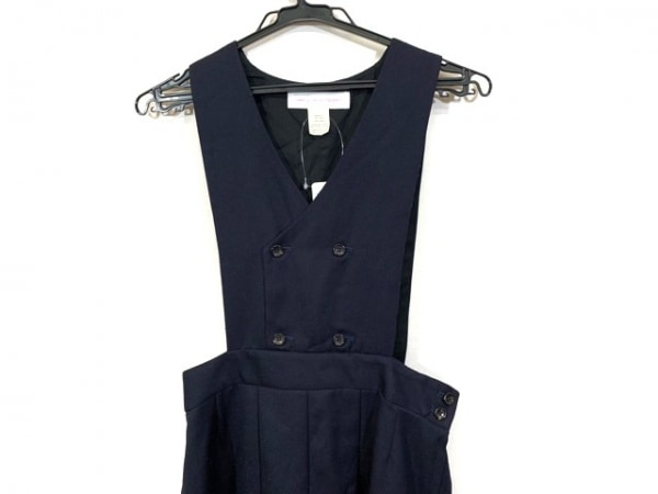 コムデギャルソンシャツ ワンピース サイズS レディース美品  ダークネイビー