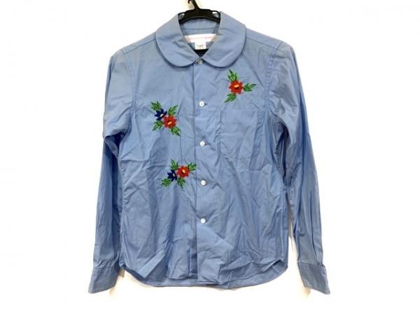 コムデギャルソンシャツ 長袖シャツブラウス サイズS レディース フラワー刺繍
