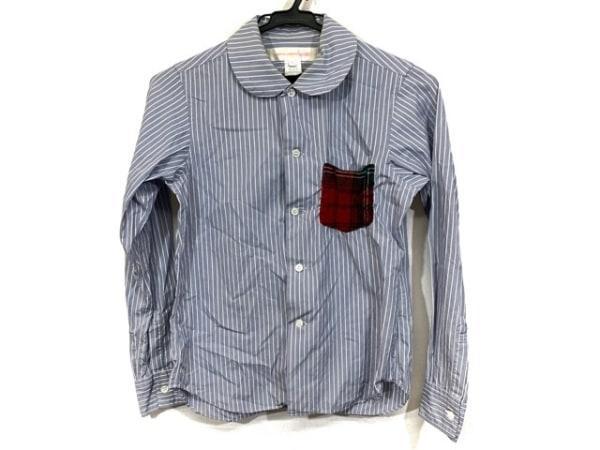 コムデギャルソンシャツ 長袖シャツブラウス サイズXS レディース ブルー×白×マルチ