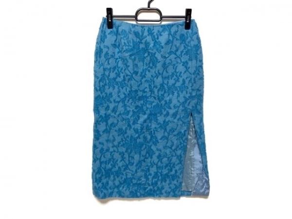 KEITA MARUYAMA(ケイタマルヤマ) スカート サイズ1 S レディース ライトブルー 花柄
