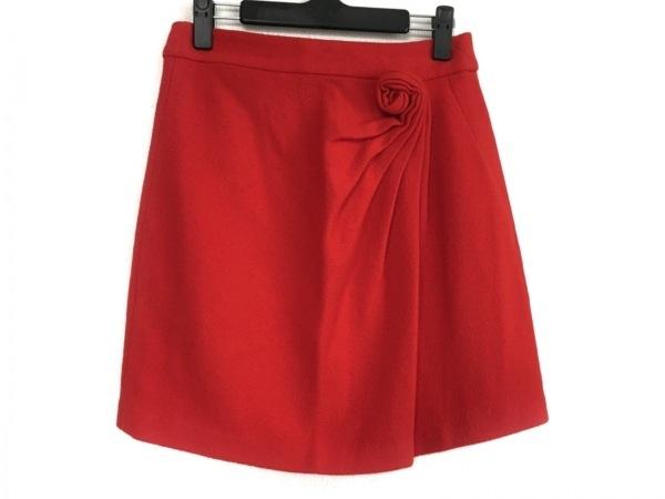 ISSA(イッサロンドン) ミニスカート サイズ8 M レディース レッド