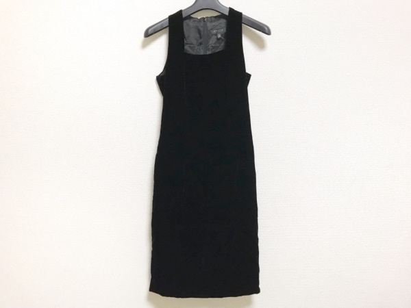 EPOCA(エポカ) ワンピース サイズ38 M レディース美品  黒 ベロア
