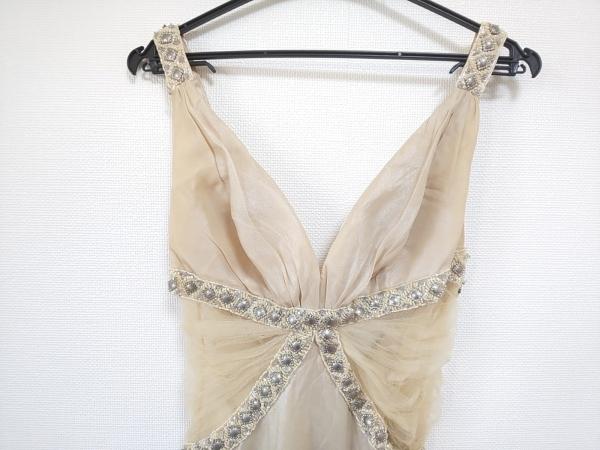 ジーンマクレーン ドレス サイズ9 M レディース ベージュ×シルバー×アイボリー