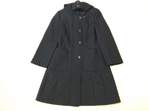 マダムジョコンダ コート サイズ38 M レディース美品  ネイビー キルティング/冬物