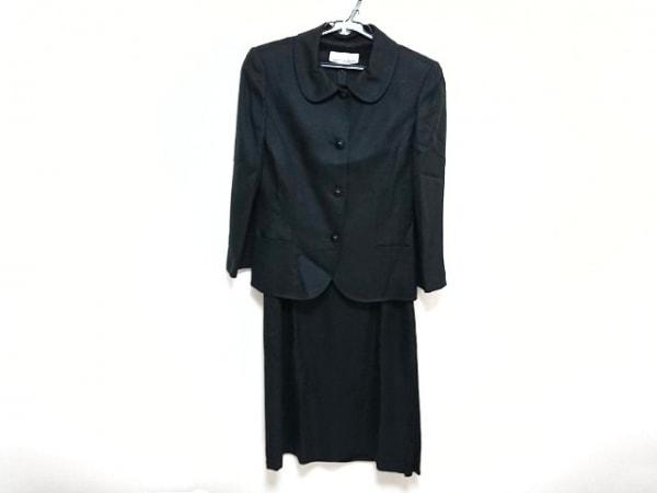 ミスアシダ ワンピーススーツ サイズ9 M レディース新品同様  黒 ロング丈