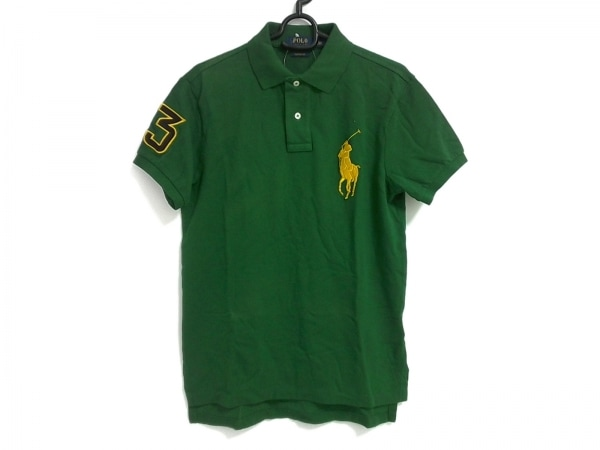 ポロラルフローレン 半袖ポロシャツ サイズS メンズ ビッグポニー グリーン