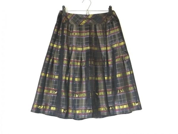 Austin Reed(オースチンリード) スカート レディース美品  黒×ブラウン×マルチ