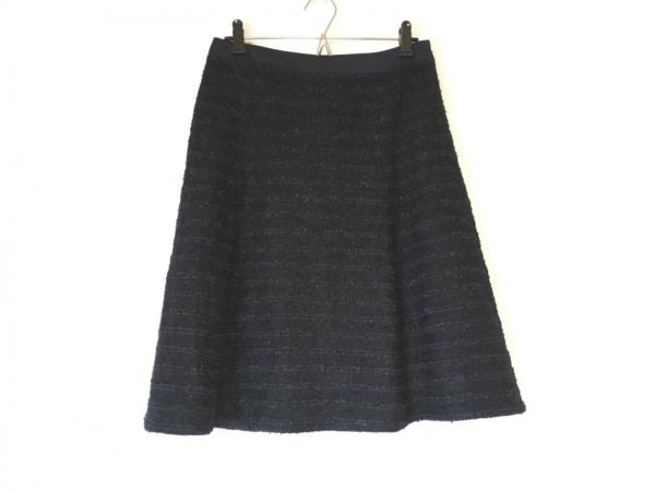 自由区/jiyuku(ジユウク) スカート サイズ38 M レディース美品  ネイビー×黒