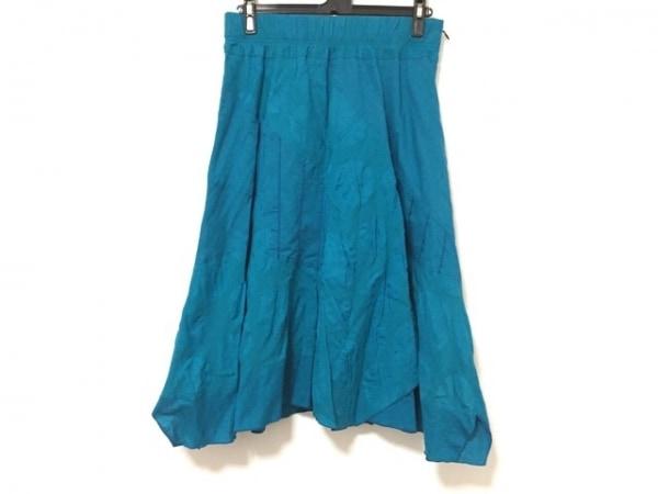 EIKO KONDO(エイココンドウ) スカート サイズF レディース美品  ブルー ウエストゴム