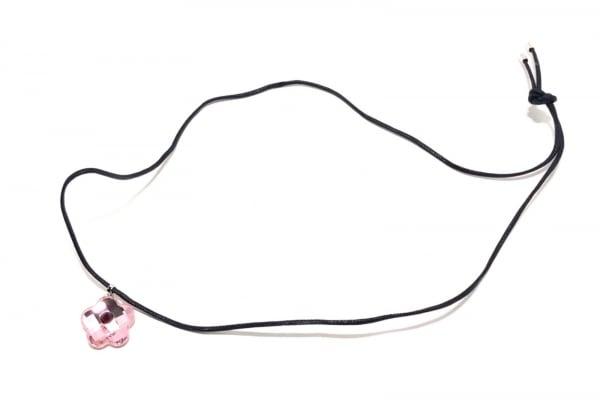 スワロフスキー チョーカー スワロフスキークリスタル ピンク×黒 フラワー