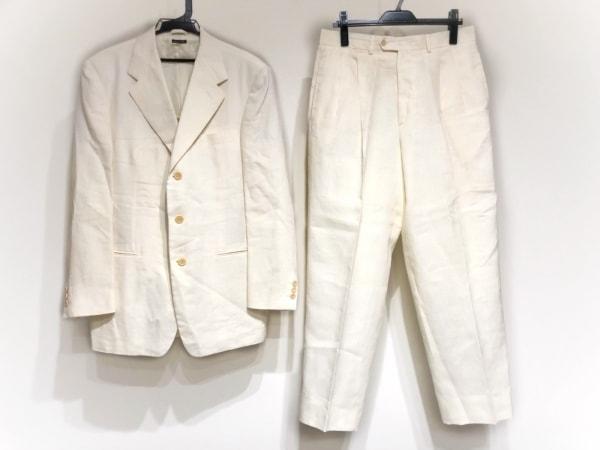 HILTON TIME(ヒルトンタイム) シングルスーツ サイズ48 XL メンズ 白 肩パッド