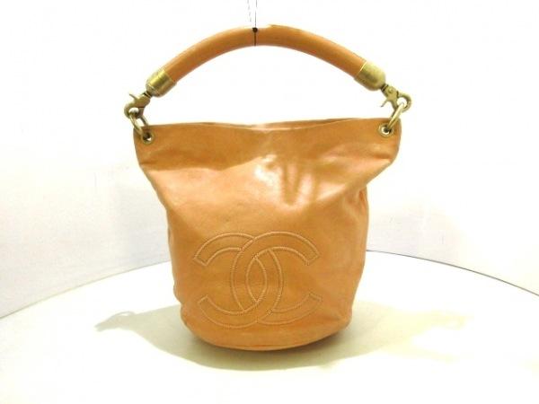 CHANEL(シャネル) ハンドバッグ - オレンジ ココマーク レザー
