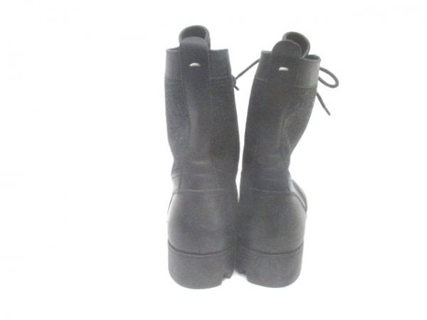 MARTIN MARGIELA(マルタンマルジェラ) ショートブーツ 41 メンズ 黒 ウール×レザー
