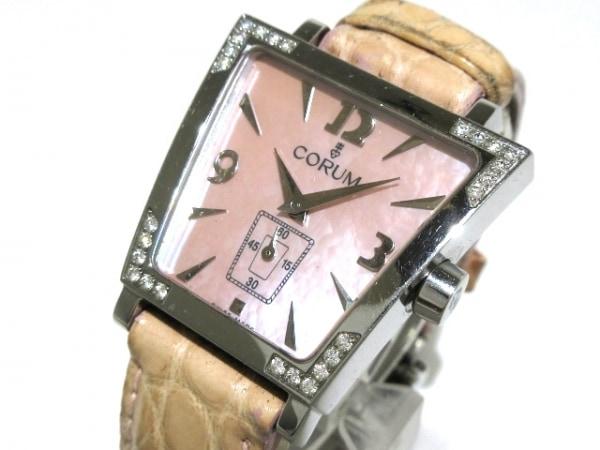 CORUM(コルム) 腕時計 トラピーズ 105.405.47 レディース シェルピンク