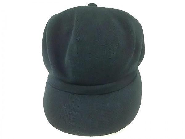 CA4LA(カシラ) 帽子 黒 キャスケット ポリエステル×PVC(塩化ビニール)