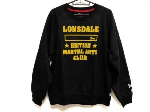 LONSDALE(ロンズデール) トレーナー サイズXL メンズ美品  黒×イエロー