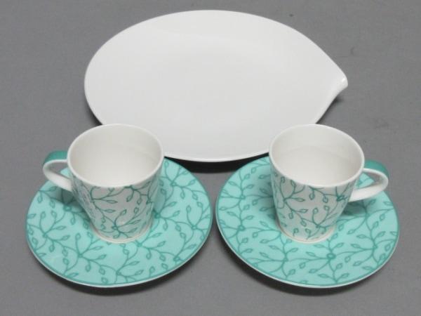 Villeroy&Boch(ビレロイ&ボッホ) カップ&ソーサー新品同様  白×グリーン 陶器