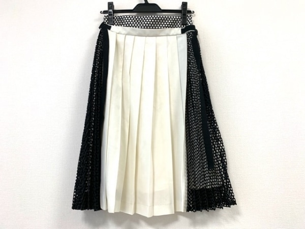AULA(アウラ) スカート サイズ0 XS レディース アイボリー×黒