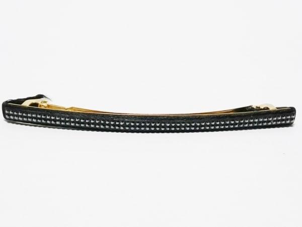 コレットマルーフ バレッタ 化学繊維×金属素材×ラインストーン 黒×ゴールド