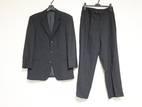 ヒューゴボス シングルスーツ サイズ48 M メンズ  黒 シングル/ネーム刺繍