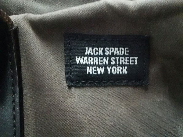 JACK SPADE(ジャックスペード) ビジネスバッグ ダークブラウン コットン×レザー