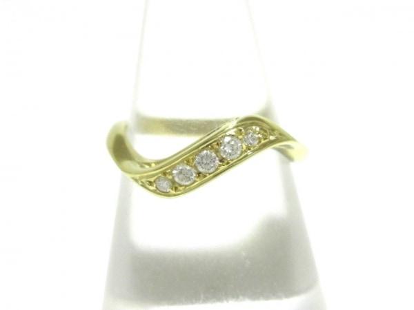 mikimoto(ミキモト) リング美品  K18YG×ダイヤモンド 5Pダイヤ