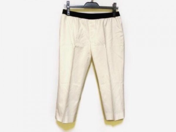 M.Fil(エム.フィル) パンツ サイズ40 M レディース アイボリー×黒 ショート丈