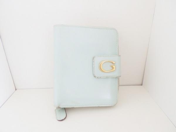 GUCCI(グッチ) 2つ折り財布 - - ライトグリーン ラウンドファスナー レザー