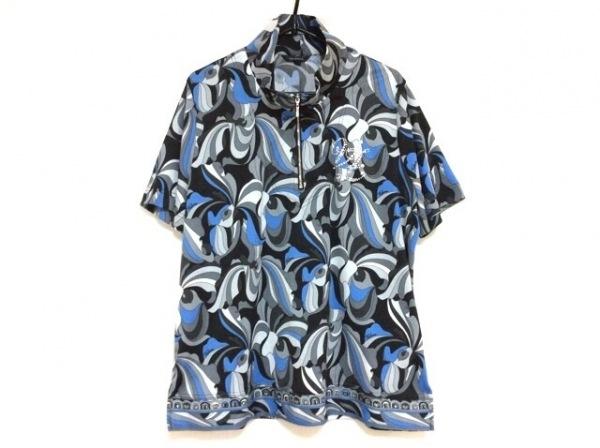 VALENZA(バレンザ) 半袖カットソー サイズ48 XL レディース美品  黒×ブルー×マルチ