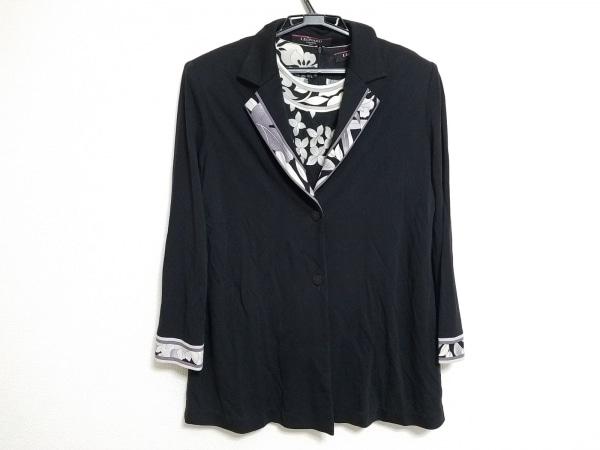 LEONARD(レオナール) アンサンブル レディース 黒×グレー×白 FASHION/花柄