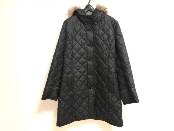 スマートピンク ダウンコート サイズ48 XL レディース美品  黒 ファー/冬物