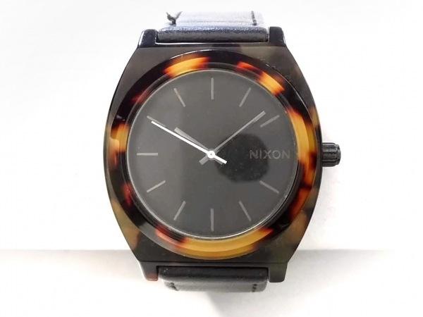 NIXON(ニクソン) 腕時計美品  THE TIME TELLER ACETATE - メンズ 社外革ベルト 黒