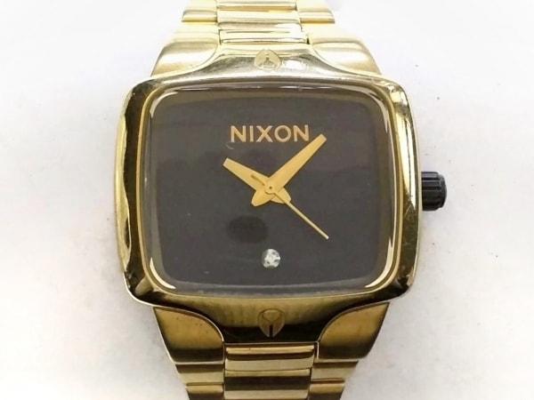 NIXON(ニクソン) 腕時計美品  THE SMALL PLAYER - メンズ 黒