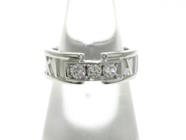 TIFFANY&Co.(ティファニー) リング新品同様  アトラス K18WG×ダイヤモンド 3Pダイヤ