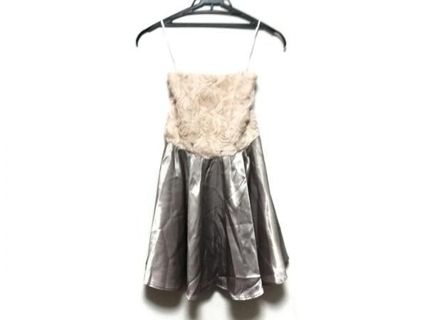 キッカザダイアリーオブ ドレス サイズ36 S レディース グレー×ベージュ
