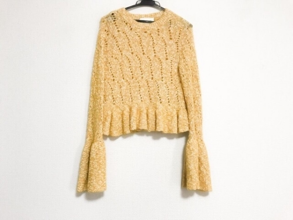 ビューティフルピープル 長袖セーター サイズ34 S レディース美品  フリル/ベルト付